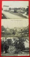 71 Hurigny-1915  Lot De 3 Cartes Postales Poste & Gare-Hameau De La Fontaine N-D Salette éditeur Divers Dos Scanné - Frankreich