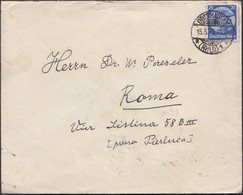 Germany - Deutsches Reich MiNr. 481 EF Cover, Oberhausen 15.5.1933 - Roma, Italy. - Lettres & Documents