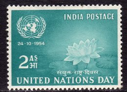 India 1954 United Nations Day, Hinged Mint, SG 352 (D) - Nuevos
