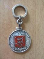 Insigne Militaire / Porte-clefs Marine Nationale - CIN Querqueville - Métal Et émail - FIA LYON - Navy