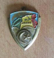Insigne / Médaille - Maroc Algérie Tunisie - Métal Doré Et Peint - L. BICHET - Badges & Ribbons