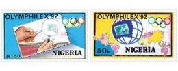 Ref. 27999 * MNH * - NIGERIA. 1992. OLYMPHILEX 92. INTERNATIONAL PHILATELIC EXHIBITION . OLYMPHILEX 92. EXPOSICION INTER - Geography
