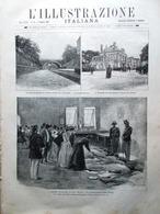 L'Illustrazione Italiana 9 Agosto 1891 Disastro Saint-Mandé Mameli Gioia Manlio - Avant 1900