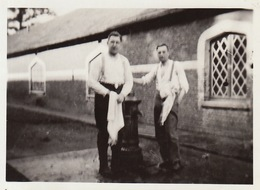Photos Militaire Au Camp De Beverlo Beverloo 1932 Légendée Au Dos - Guerre, Militaire