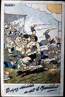 RUGBY GUERRE DE 1939 1945  VICHY PETAIN SOYEZ DECIDES ILLUSTREE PAR PELLOS COMMISSARIAT AUX SPORTS PROPAGANDE - Guerre 1939-45