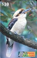 AUSTRALIE  -  Prepaid  -  EZIPHONE CALCARD   -  Kookaburra  -  $ 10 - Australië