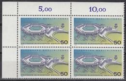 BERLIN  477, 4erBlock Eckrand Links Oben, Postfrisch **, Flughafen Berlin Tegel 1974 - Berlin (West)