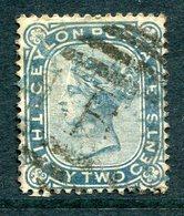 Ceylon 1872-80 QV - Wmk. Crown CC - Perf. 14 - 32c Slate Used (SG 128) - Ceylon (...-1947)