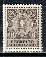 I+ Italien 1930 Mi 2 Mnh Gebührenmarke GH - Other