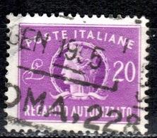 I+ Italien 1949 Mi 10 Italia Gebührenmarke GH - Other