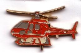 T260 Pin's Pompier Pompiers Protection Civile Hélico Hélicoptère 35 Mm X 20 Mm Achat Immédiat Immédiat - Firemen