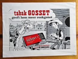 Gosset 1 (Tobacco) - Mini Poster - Lucky Luke - Morris - Rarissime - 300 X 210 Mm - Objets Publicitaires