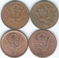 Barbados - Elizabeth II - 1 Cent - 1976 - Independence (KM19) 1979 (KM10) 1992 (KM10a) & 2010 (KM10b) - Barbades