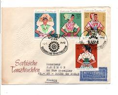 ALLEMAGNE RDA DDR FDC COSTUMES POUR LA FRANCE 1971 - Brieven En Documenten