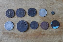 Lot De 10 Monnaie XIX Et XX A Identifier Non Triées - Guerra, Militares