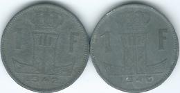 Belgium - Leopold III - 1 Franc - WWII Zinc Issues - 1942 (KM127) & 1946 (KM128) - 1934-1945: Leopold III.