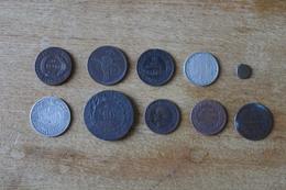 Lot De 9  Monnaies XIX Et XX A Identifier Non Triées Lot 2 - Guerra, Militares