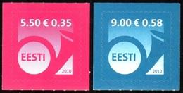 728 - Estonia - 2010 -  Definitive Posthorn - 2v - MNH - Lemberg-Zp - Estonie