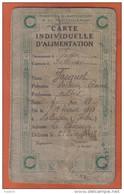 36. Palluau Carte Individuelle D'Alimentation Délivrée En Décembre 1918 - Collections