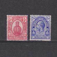 TURKS & CAICOS 1921, SG #154-158, Wmk Mult Script CA, Part Set, MH - Turks E Caicos