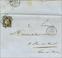 Grille / N° 3 Càd PARIS (60) 11 AVRIL 50 Sur Lettre Avec Texte De Paris Adressée Localement. A Cette Date, L'affranchiss - 1849-1850 Ceres