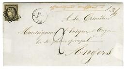Grille / N° 3 Càd T 15 BEAUPREAU (47) Sur Lettre Insuffisamment Affranchie Taxée 2 Au Tampon. Mention De Poids 7 3/4. 18 - 1849-1850 Ceres