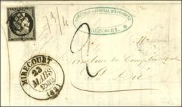 Grille / N° 3 Càd T 13 MIRECOURT (82) Sur Lettre 2 Ports Insuffisamment Affranchie Pour Saint Dié. Au Recto, Mention De  - 1849-1850 Ceres