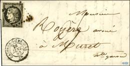 PC 669 / N° 3 Càd T 15 CAZERES-S-GARONNE (30) 26 JANV. 53 Sur Lettre Pour Muret Taxée 0,5 Au Tarif Du 1er Juillet 50. -  - 1849-1850 Ceres