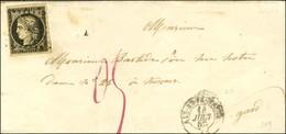 PC 33 / N° 3 Càd T 15 AIX-EN-PROVENCE (12) 14 JUIN 52 Sur Lettre Pour Nimes Taxée 0,5 Au Tarif Du 1er Juillet 50. (Ex Co - 1849-1850 Ceres