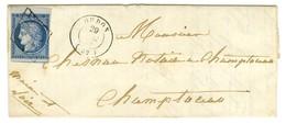 Grille / N° 4 Bdf Càd T 15 OUDON (42). 1851. - TB / SUP. - 1849-1850 Ceres
