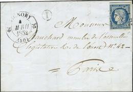 PC 3581 / N° 4 Càd T 12 VIGNORY (50) B.RUR. I '' Vieville ''. 1852. - TB / SUP. - R. - 1849-1850 Ceres