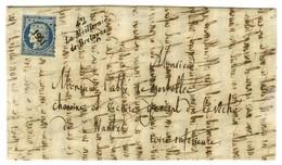 PC 1951 / N° 4 Cursive 42 / La Meilleraie / De-Bretagne Sur Lettre Avec Texte Daté 1851. - TB / SUP. - 1849-1850 Ceres