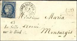 Grille / N° 4 Càd T 15 FERRIERES-GATINAIS (43) Cursive 43 / La Selle / Sur-le-Bied. 1852. - TB / SUP. - R. - 1849-1850 Ceres