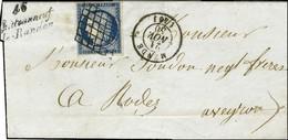 Grille / N° 4 Càd T 15 MENDE (46) Cursive 46 / Chateauneuf / De-Randon (26 Mm). 1850. - TB / SUP. - R. - 1849-1850 Ceres