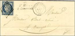 Grille / N° 4 Belles Marges Càd T 15 CERVERETTE (46) Cursive 46 / St Alban / S-Limaniole. 1851. - TB / SUP. - R. - 1849-1850 Ceres