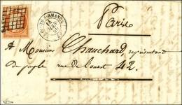 Grille / N° 5 Très Belles Marges Càd T 15 LA FERTE-S-AMANCE 50 Sur Lettre 2 Ports Pour Paris. 1850. - TB / SUP. - R. - 1849-1850 Ceres