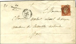 Grille / N° 7 Vermillon Vif, Superbe Nuance, Pd Càd T 15 FRAYSSINET (44) 11 FEVR. 49 Cursive 44 / Montfaucon / Du-Lot Su - 1849-1850 Ceres