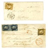 Lot De 2 Lettres De La 1ère émission. - B / TB. - 1849-1850 Ceres