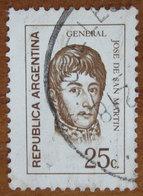 1971 ARGENTINA Generale José Francisco De San Martin - 25c Usato - Usati