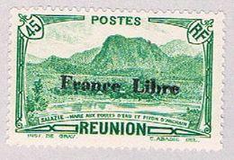 Reunion 195 MLH Waterfowl Lake Overprint 1 1943 CV 1.00 (BP46901) .. - Réunion (1852-1975)