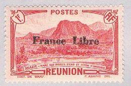 Reunion 205 MLH Waterfowl Lake Overprint 1943 CV 1.00 (BP46907) .. - Réunion (1852-1975)