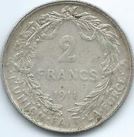 Belgium - Albert I - 1911 - 2 Francs - French - KM74 - 1909-1934: Albert I