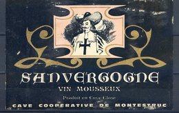 ETIQUETTE VIN MOUSSEUX REF020620 , SANVERGOGNE, Cave Coopérative De Montestruc - Non Classificati