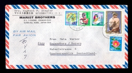 JAPAN - Airmail Cover, Sent By Airmail From Japan To Deutschland 1985. Nice Franking On Cover. - Airmail