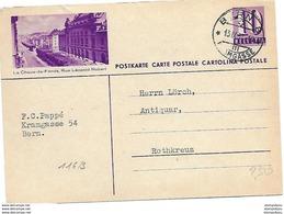 """19 - 61 - Entier Postal Avec Illustration """"La Chaux-de-Fonds"""" Cachet à Date Bern 1937 - Postwaardestukken"""