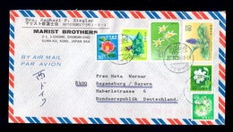 JAPAN - Airmail Cover, Sent By Airmail From Japan To Deutschland 1985. Nice Multicolored Franking On Cover.. - Airmail