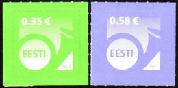 738 - Estonia - 2011 - Definitive Posthorn 0,35 + 0,58 - 2v - MNH - Lemberg-Zp - Estonie