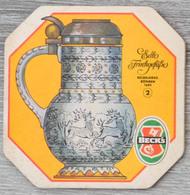 Sous-bock BECK'S Edle Frinkgefasse Deckelkrug Böhmen 1685 2 Bierdeckel Bierviltje Coaster (CX) - Sous-bocks