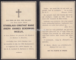 Stanislaus Constant Marie Joseph Joannes Berchmans Meeus, 1915, Pastoor Parochie SS. Elisabeth En Barbara Haarlem - Religion & Esotericism