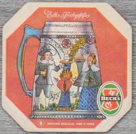 Sous-bock BECK'S Edle Frinkgefasse Deutsches Emailglas Ende 17 Jahrh 6 Bierdeckel Bierviltje Coaster (CX) - Sous-bocks